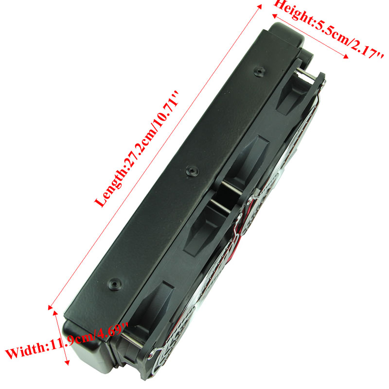 G1/4 240mm 2 Fans Radiator Computer Desktop Water Cooling Aluminum Thick 60mm  Drop Shipping