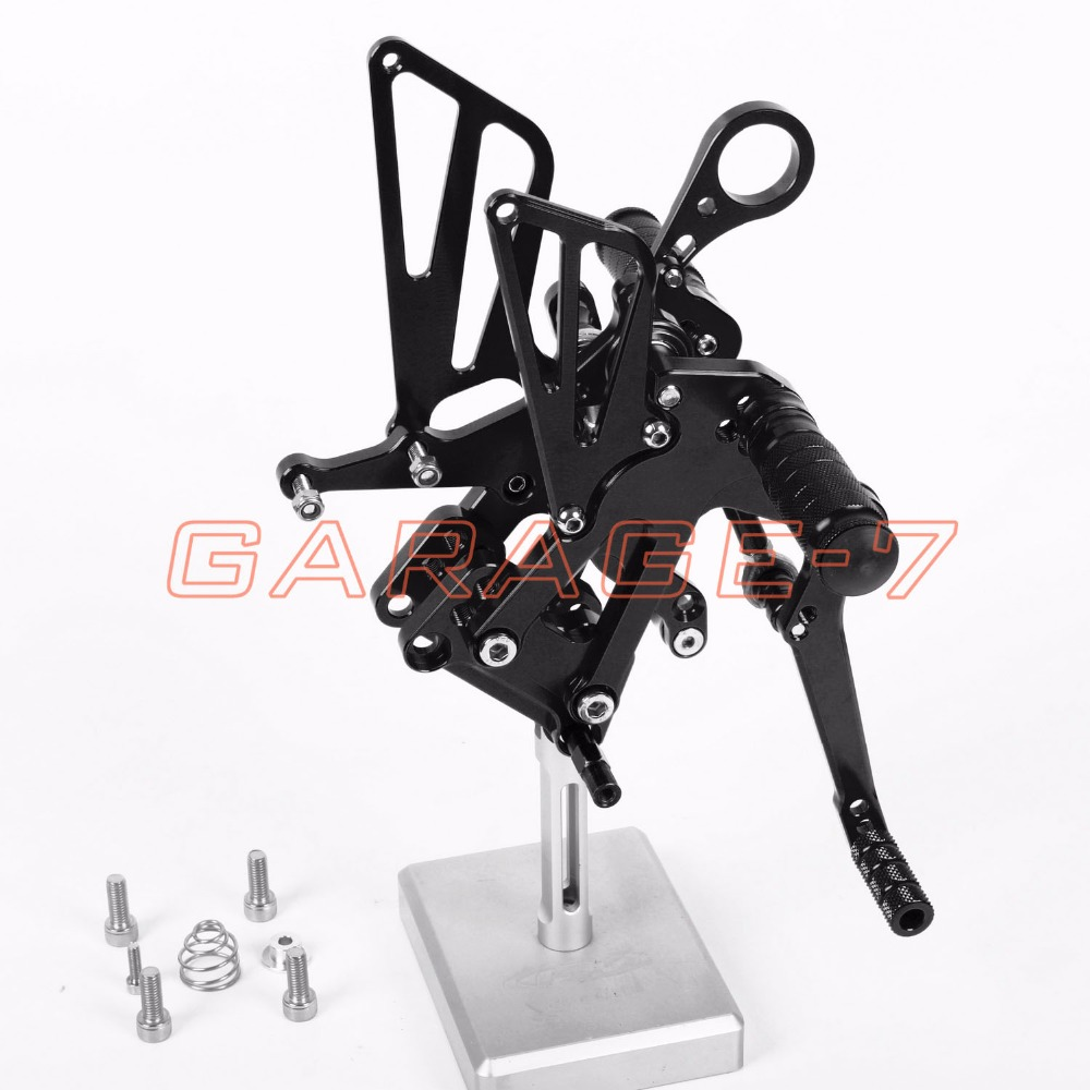 CNC Motorcycle Parts Rearsets Foot Pegs Rear Set For BMW  S1000RR 2012-2014 Black Color