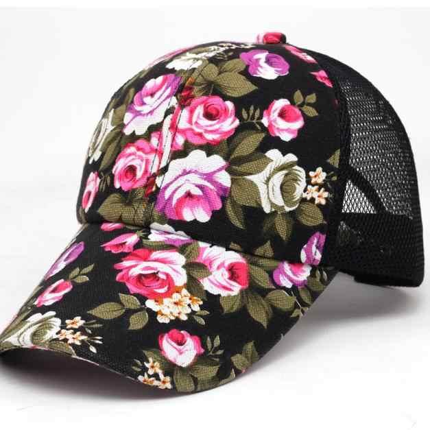 Mens verão Mulheres Bordados Flor Impressão de Algodão Bonés de Beisebol Das Meninas Dos Meninos Snapback Ajustável Hip Hop Moda Chapéu Plana FFE22