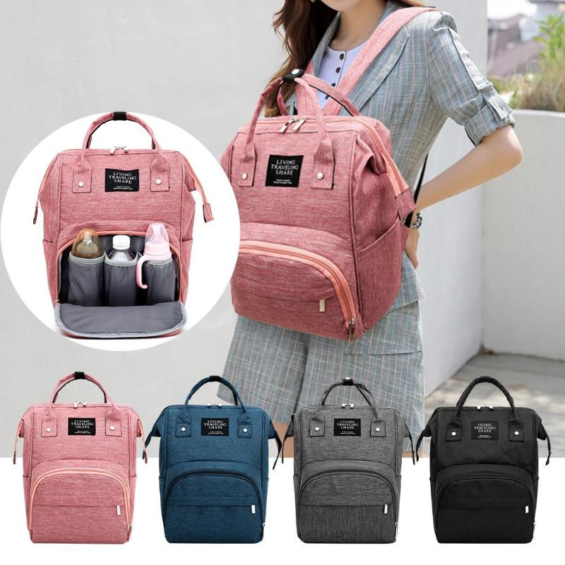 1pcs  Baby Handbag Double Shoulder Travel Backpack  Mummy Bag Multifunction Large Capacity Insulation Bags NappyBottle Bag