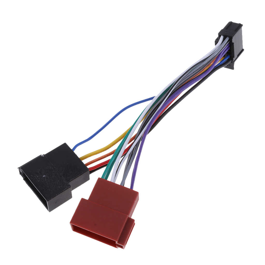 16pin ISO Female Radio Receiver Replacement Wire Harness Cable For Pioneer