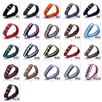 Watch Band Luxury 100 PCS Nylon Fabric 16mm Silver Buckle Army Military Watch Accessories Colorful Stripe Watchbands Sport Band