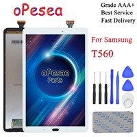OPesea Für Samsung Galaxy Tab E 9 6 T560 T561 SM T560 SM T561 Full Touch Screen Digitizer LCD Display Panel Montage Ersatz-in Tablett-LCDs und -Paneele aus Computer und Büro bei