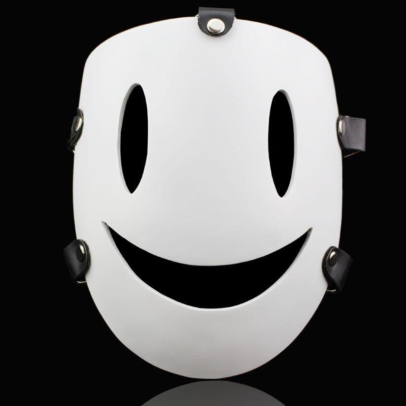 Free Shipping Resin Smile Face Black Bullet Mask Kagetane Hiruko Japanese Anime Mask for Halloween Cosplay Masquerade Party