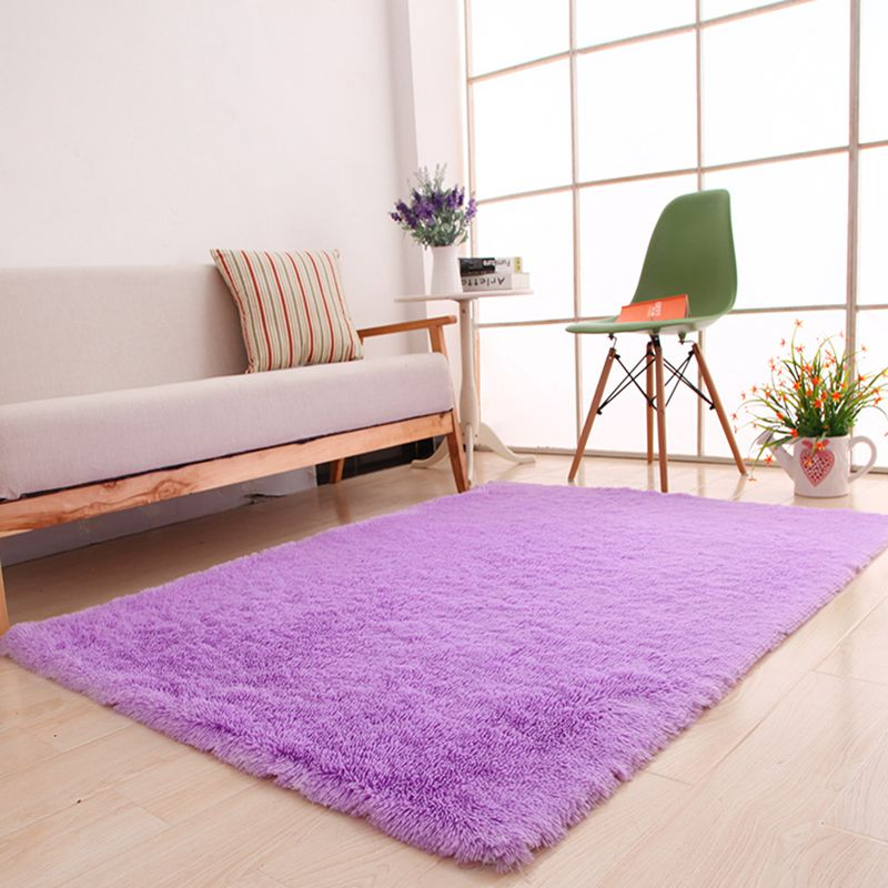 Fashion Modern 15 Colors Pastiral Pure Colour Plush Gentle Ground Mat Carpet For Bedroom Living Room On Sale 4.5CM