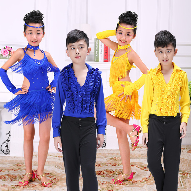 cdb13c01f Boys Latin dance costumes children s dance wear boys and girls ...