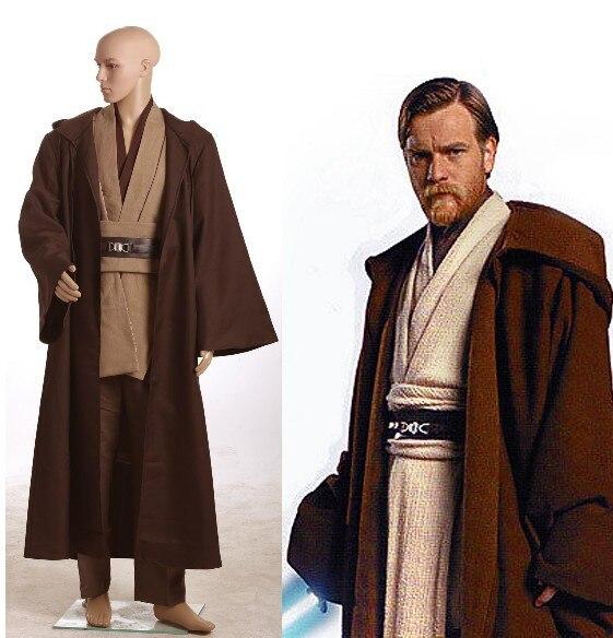 Star Wars Obi-Wan Kenobi Jedi TUNIQUE Cosplay Costume Cosplay Hommes