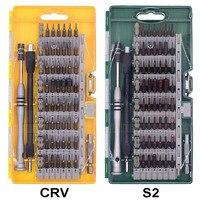 CRV/S2 Отвёртки бит 60 в 1 точность Отвёртки набор Магнитный Torx Инструменты комплект для сотового телефона игрушка ремонт 30 компл./лот