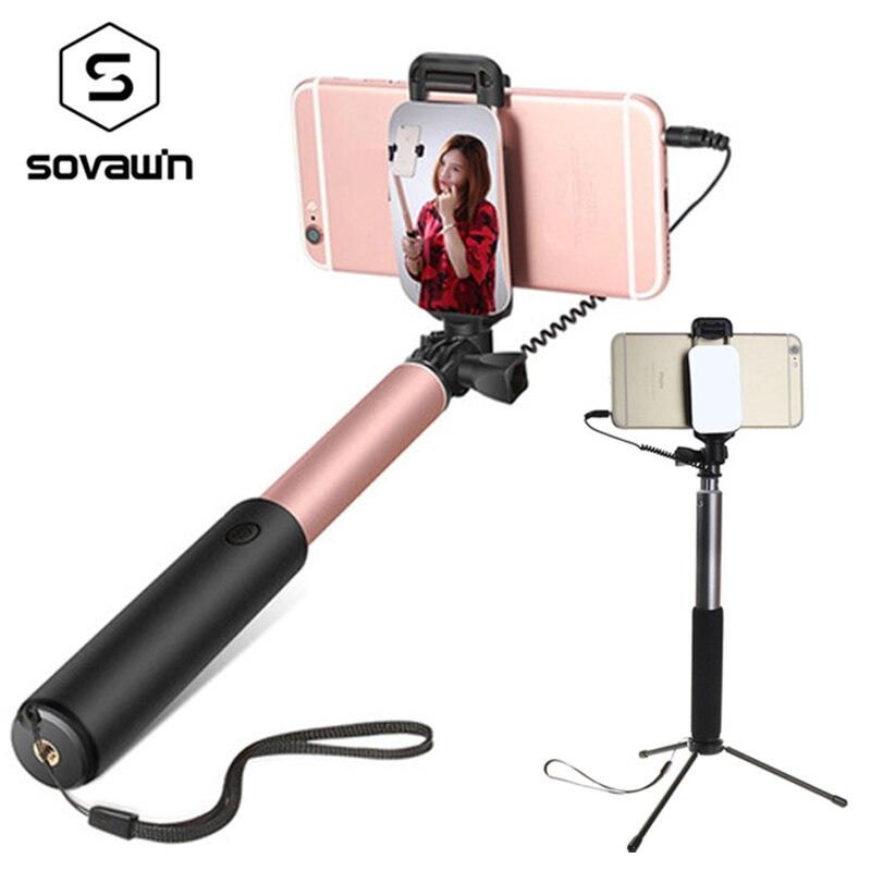 Smartphones selfie stick universal Telefon Android Bluetooth selfie stick stativ spiegel einbeinstativ für Iphone mit fernauslöser