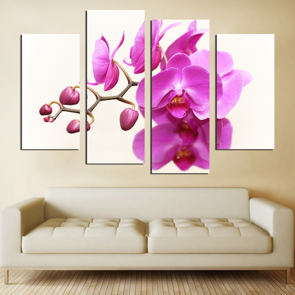Royal Garden Flowers Home Decoration Without Picture Frame Painting On The Wall Art Of The Living Room FA556