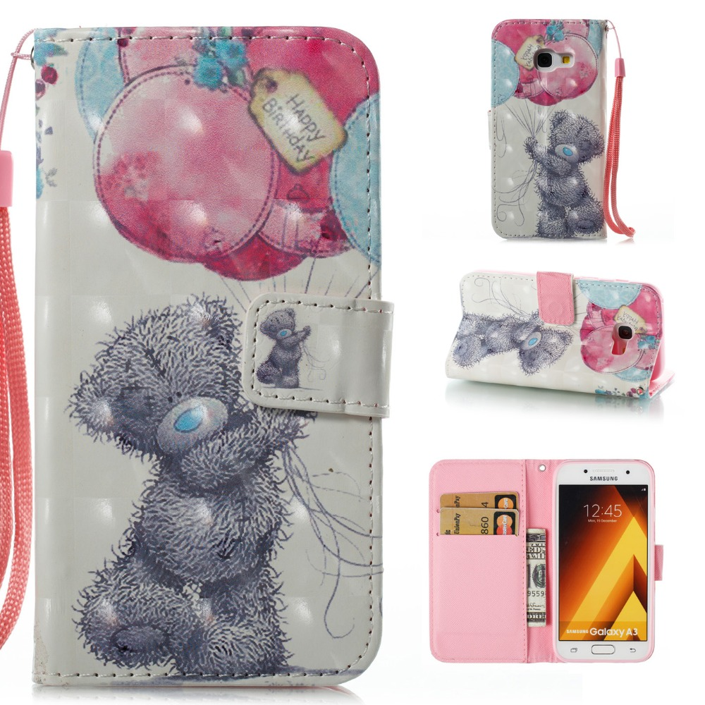 3d Printed Flamingos Pony Bear Butterfly Catcher Flip Wallet Case Pu Leather Cover For Samsung Galaxy A3 A5 J3 J510 J710 J730 Complete In Specifications