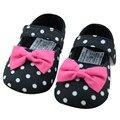Bebê Primeiro Caminhantes Polka Dot Infantil Criança Tarja Flor Berço sapatos Macios Sole Crianças Meninas Sapatos de Bebê de 0 a 18 meses