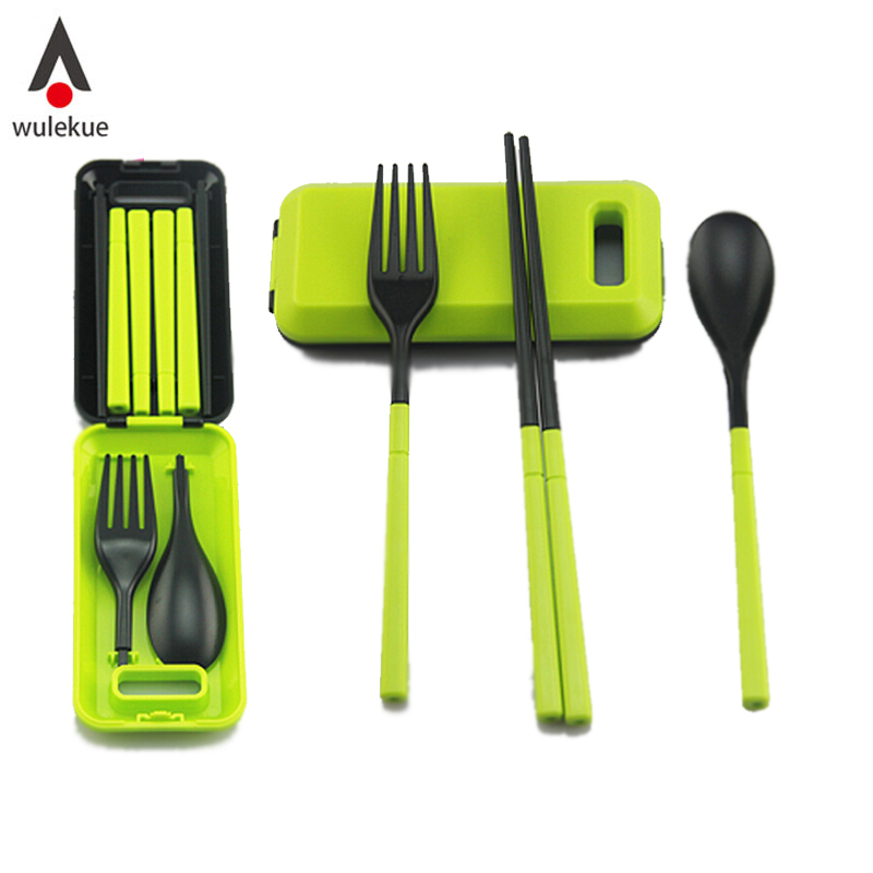 Wulekue 1PCS Portable Travel Kids Adult My Cutlery Fork Camping Picnic Set Gift for Child ...