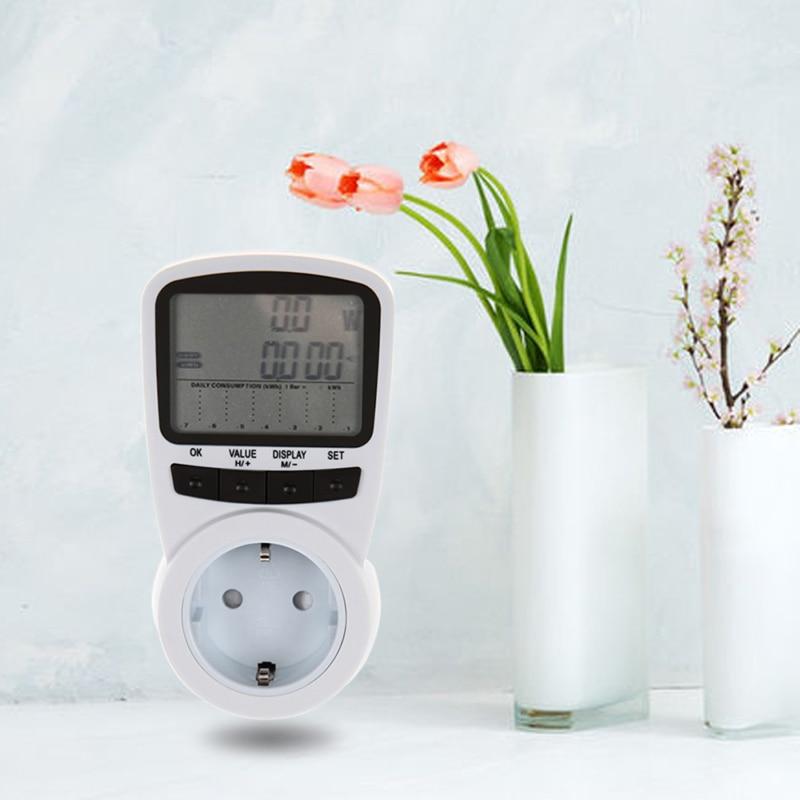 Digital Power Meter With Remote Display : Digital lcd electric power energy meter voltage wattage