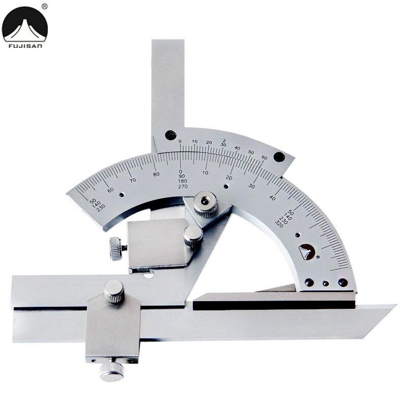 0-320 Gradi Angolo Goniometro Righello Universale Vernier Caliper Calibro Angle Quadrata Measurment