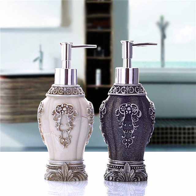 Attrayant Europe Style Vintage Style Lotion Soap Dispenser Bottle Bathroom Kitchen  Sanitizer Refillable Resin Pump Liquid Bottles