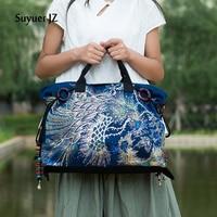 Canvas Handbag Embroidered Women Bag National Characteristics Single Messenger Bag Women's Fashion Leisure Crossbody Shoulder