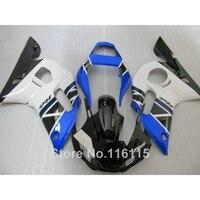 המחיר הנמוך ביותר מלא ערכת fairing עבור ימאהה R6 1998 1999 2000 2001 2002 YZF-R6 YZF R6 מעטפת סט שחור לבן כחול 98-01 02 NX68