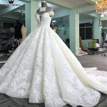 Custom Size Ball Gown Sweetheart Fluffy Lace Appliques Flowers Luxury Wedding  Dresses Wedding Gown Vestidos De 22b33c607