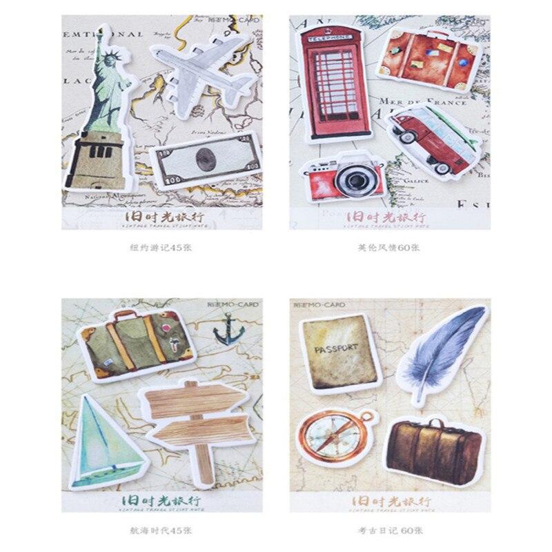 30 упаковок/партия Kawaii ручной старый путешествие во времени серии N раз Наклейки Заметки Post Блокнот канцелярские школьные принадлежности