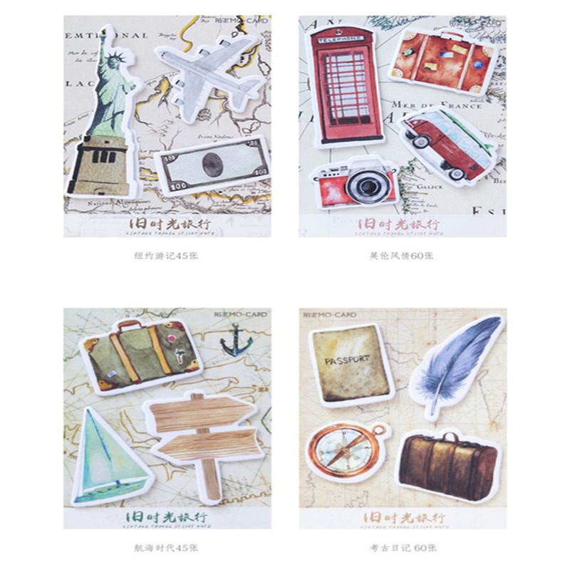 30packs/lot Kawaii HANDMADE Old time travel series N times stickers Sticky Notes Post Memo Pad stationery School Supplies