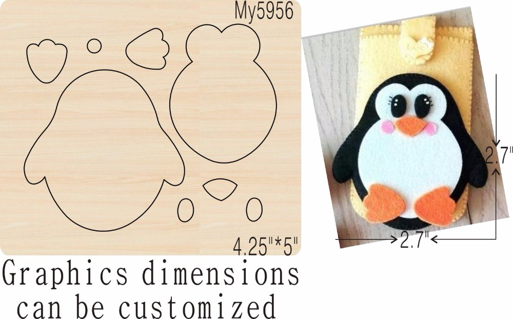 Penguin 1 new wooden mould cutting dies for scrapbooking Thickness 15 8mm