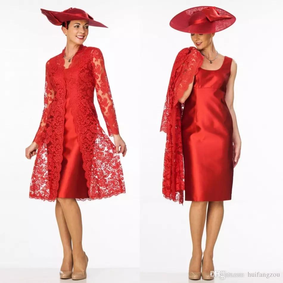 Scoop Neckline Mother Wear Knee Length Evening Party Gown