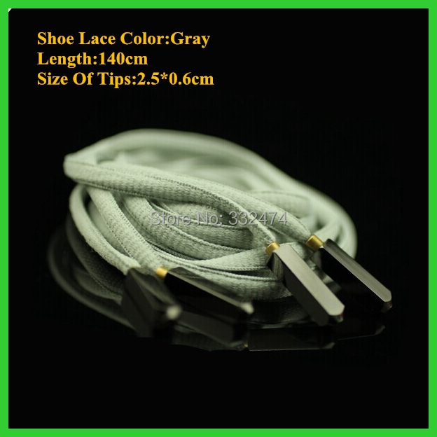 2018 New Arrival Yeezy  Aglets Shoelace Gray Shoe Lace Basketball Shoes Bootlace Oval Shoestring 10 Pairs Retail 45 neon orange 5 16 flat shoelace for all basketball shoes