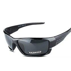 Designers da marca de Esportes Óculos De Sol de polarização polarizador masculino e feminino condução Pesca óculos de Sol óculos de armação Preta UV400