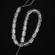 Natural Clear White Quartz Column Loose Beads Making Necklace Jewelry,Polished Raw Crystals Cylinder Spacer Craft Bracelet