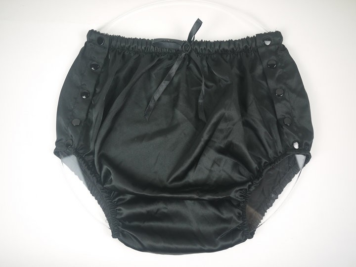 Adult Baby Satin Shorts, Satin Fabric Incontinence # New SD02-2,Size:M,L,XL