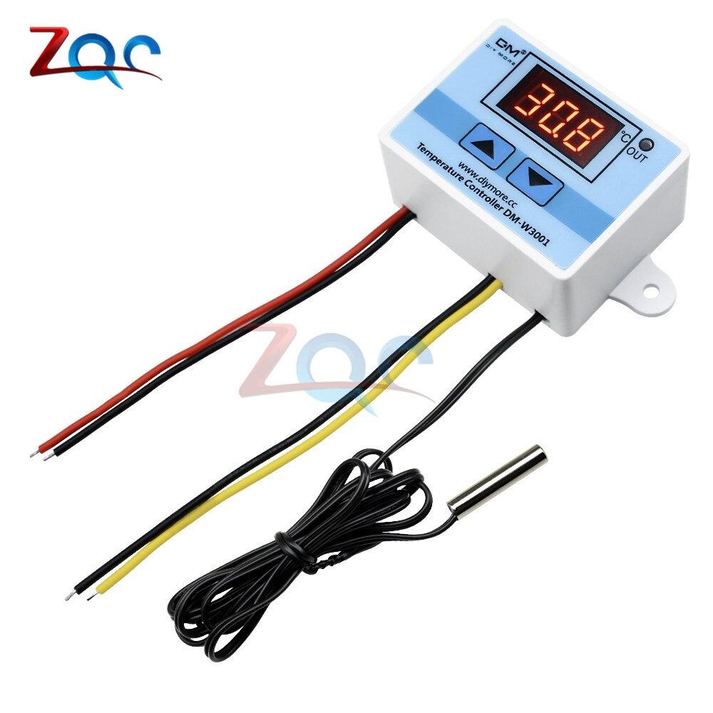 W3001 110V 220V 12V 24V Digital Temperature Controller Thermostat Thermoregulator Aquarium Incubator Water Heater Temp Regulator laser hijau jarak jauh