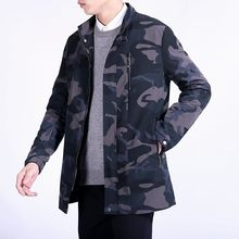 2018 Autumn camouflage Overcoat Mens Classic trench Coat men's high quality Jacket Men Casual Coats Men windbreaker size M-6XL(China)