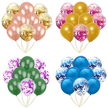10PCS 12inch Silver Gold Metallic Latex Balloons Pearly Metal Balloon Blue Colors Globos Wedding Birthday Party Supplies