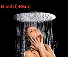 16 inch 40 40 cm round shape 304 stainless steel ultra thin water saving rainfall shower