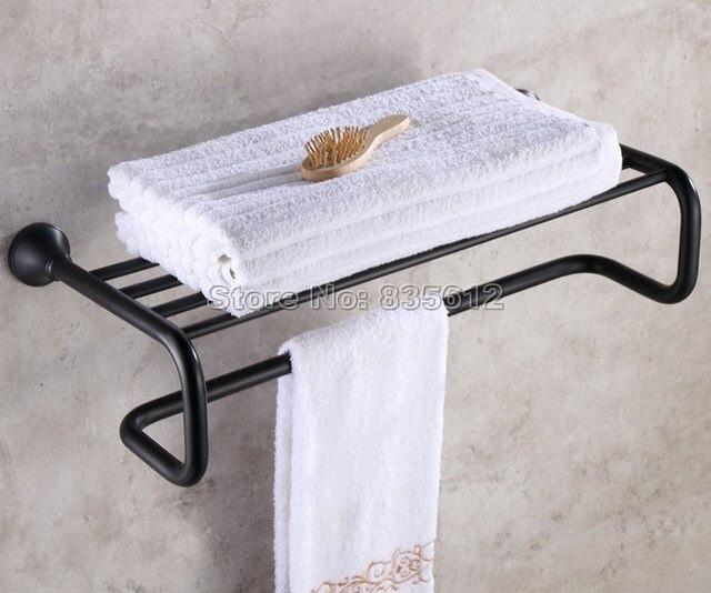 Badzubehör Handtuchhalter schwarz öl eingerieben bronze wand badzubehör handtuchhalter