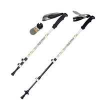 2 Pcs Carbon Fiber Ultralight Carbon Trekking Poles Walking Stick 160g Built In Shock Absorber System