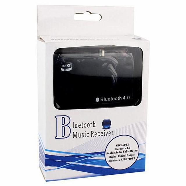 Bluetooth 4.0 TS-BTAD01 Música Adaptador Del Receptor Estéreo para el Hogar independiente Altavoces Tablet Teléfono Inteligente Negro