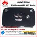 Nueva llegada original desbloquear 300 mbps huawei e5786s-62a 3g 4g wifi Cat6 Router Con Ranura Para Tarjeta Sim Y 4G LTE Móvil WiFi