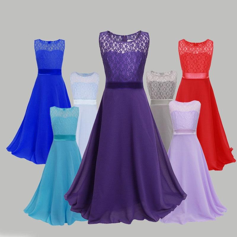 New Arrival Teenage Girls Princess Dresses Teen Girl Prom Lace Dress Girl Formal Dress Kids Wedding