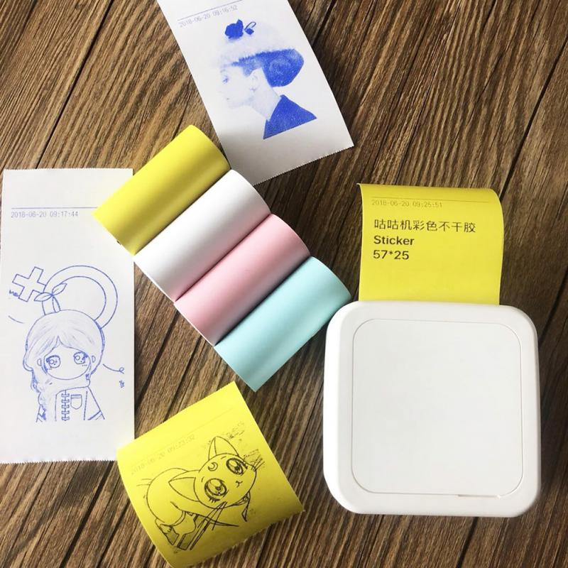 4Pcs/set Self Adhesive Thermal Sticker Printing Paper Paste Bill Receipt Colorful Durable For Paperang Printer Small POS Machine