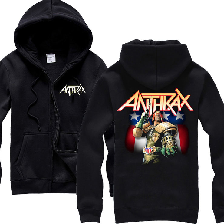 Free shipping Anthrax Skater Persistence Guy Death Core 100 COTTON black font b HOODIE b font