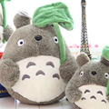 1pcs lovely plush toy, my neighbor totoro plush toy cute soft doll totoro with lotus leaf kids toys Cat for children gift