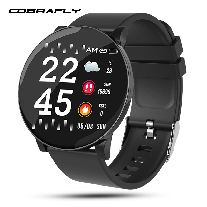 Cobrafly W8 smart watch blood pressure fitness tracker watch heart Rate Sleep Monitor Smart Sport Watch IP67 for Android IOS