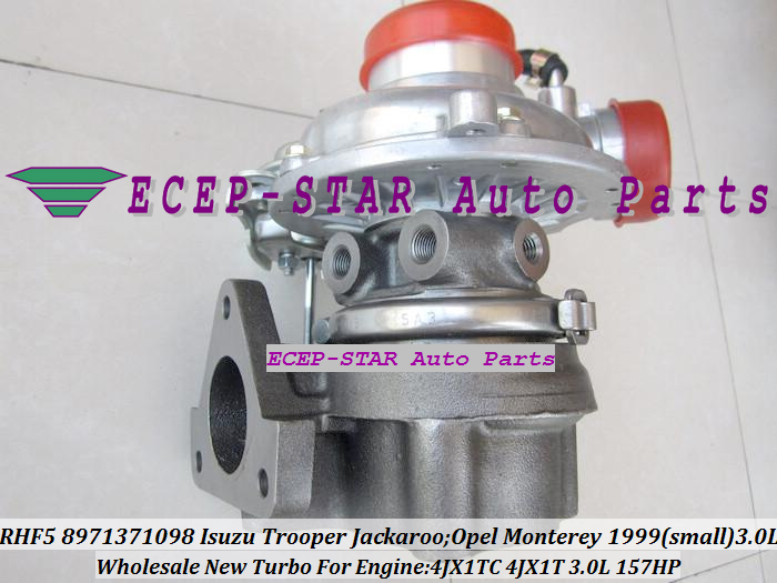 RHF5 098 8971371098 Turbo Турбокомпрессор Для ISUZU Trooper 2000 Jackaroo 1999 04 для OPEL Monterey 1998 4JX1 4JX1TC 4JX1T 3.0L
