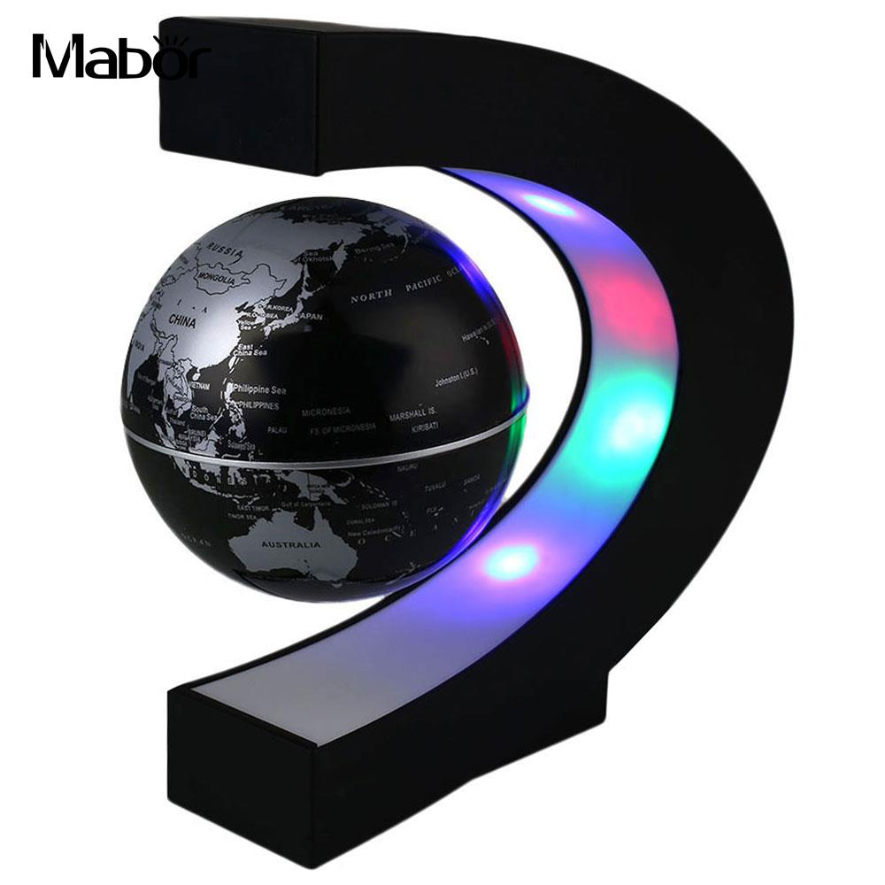 Luminous Romantic LED Globe Light Globe Light Globe Lamp Magnetic Levitation World Map LED Bedroom Night Light Decoration Home цены онлайн