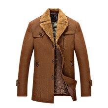 Большой размер xxl-бесплатная XXXXXL однобортный с отложным воротником мужская шерстяное пальто верхняя одежда мужчины сверхразмерные тренчи с искусственного меха воротник