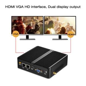 Image 4 - HLY Mini PC Dual LAN Celeron N2810 Celeron J1900 Mini Computer Gigabit LAN Windows 7 pfsense firewall PC Mini 2*COM HDMI TV BOX