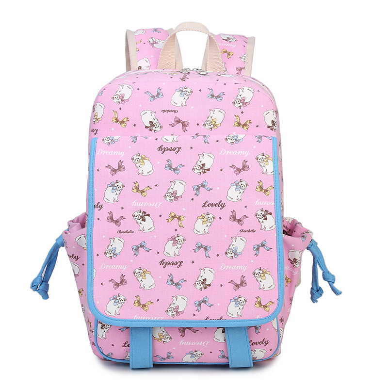 Waterproof women Backpacks School Bags Teenage Girls Cut Cat Printing Bagpack Laptop bags Canvas Backpack female travel Packbag