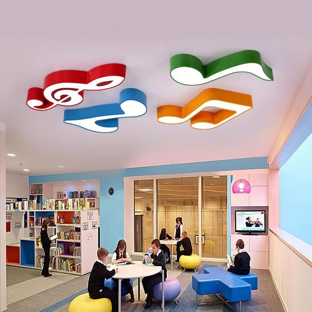Wonderful Led Note Ceiling Lamp Kids Room Lamp Creative Cartoon Color Music Classroom  Bedroom Kindergarten Early Education Light LO721178